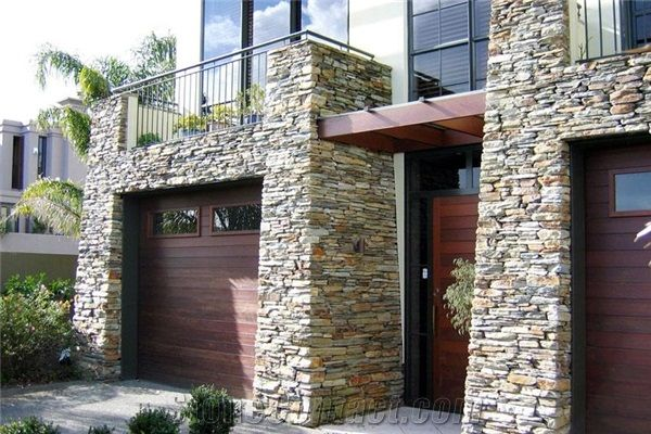 Poolburn Schist Stone Gold Blend Entrance From New Zealand