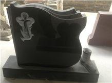 Absolute Black Granite Tombstone