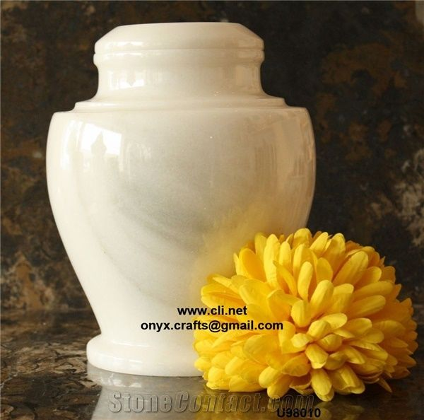 Ziarat White Marble Cremation Urns From Pakistan