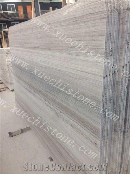 White Wood Marble Countertops Slabs Crystal Grain Tiles