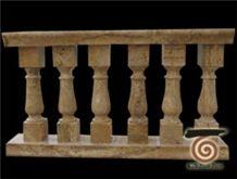 Beige Travertine Balustrade & Railings