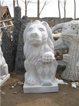 China Grey Granite Animal Sculpture