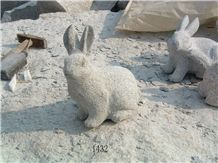 China Grey Granite Rabbit Sculpture & Statue