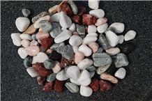 Granite Pebbles with Multi-Color