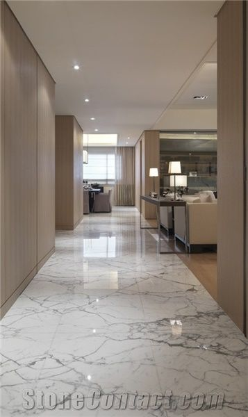 Home Marble Tiles Slabs Italy Calacatta Floor Covering Tile Supply Beautiful Polished White