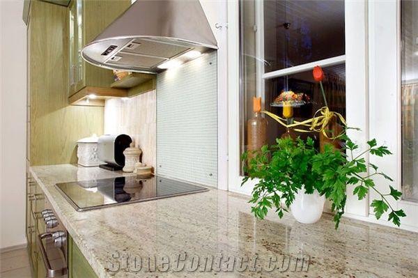 Kashmir White Granite Kitchen Countertop From Finland 313852