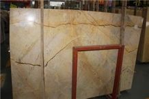 Goose Feather Gold Marble Tiles & Slabs, Turkey Beige Marble