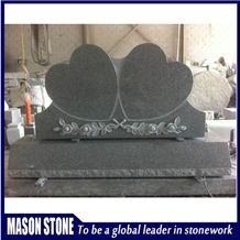 G633 Granite Double Heart Tombstone & Monument,Engraved Monument