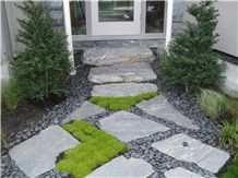 Ocean Pearl Stone Flag Garden Step Stone with Mexican Pond Pebble Stones