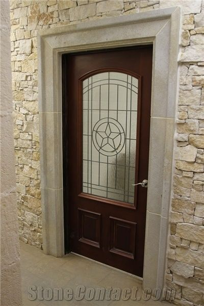 Chestnut Limestone Brown Entry Door Surround From United