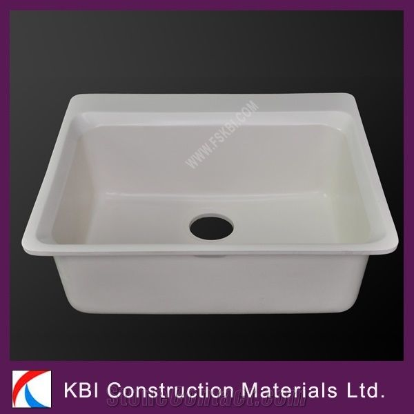 Manmade Stone Solid Surface Single Bowl Kitchen Sink from China ...
