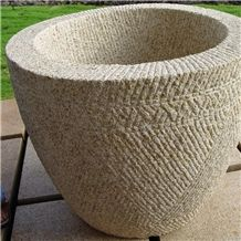 Golden Dune Granite 2 Point Stalk Finish Planter Pot