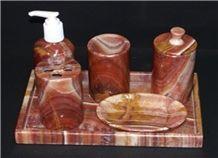 6 Pieces Onyx Bath Set
