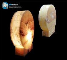Circle Onyx Lamp