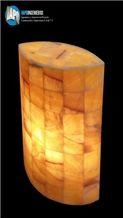 Drop Shape Onyx Lamp