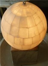 Sphere Onyx Lamp