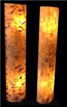 Translucent Onyx Large Elliptic Lamp