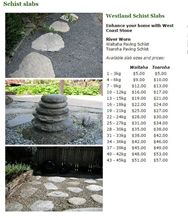 Toaroha Flagstone Paving Schist, Stepping Stone