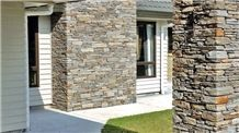 Clutha Schist Stone Ledge Column Cladding and Walling
