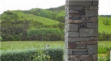Hyde Brown Schist Ledge Stone Column