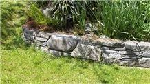 Hyde Grey Schist Garden Retaining Wall