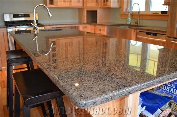 Tropical Brown Granite 1 4 Quot Radius Edge Island Countertop