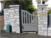 Bombay Blue Stone Gate Post and Letter Box