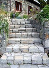 Bombay Blue Stone Rough Garden Steps
