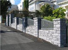 Bombay Blue Stone Split Dry Garden Wall