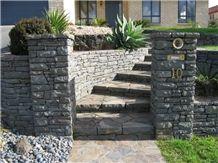 Kaiawa Stone Gate Post, Garden Accent Wall