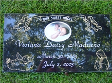 Black Granite Baby Markers,Baby Infant Child Grave Markers