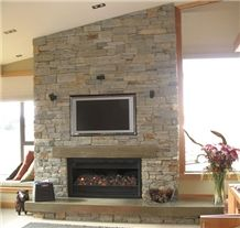 Wanaka Schist Fireplace Chimney