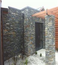 Gibbston Grey Schist Dry Stack Wall