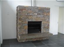 Wistow Bluestone Dry Stacked Fireplace Surround