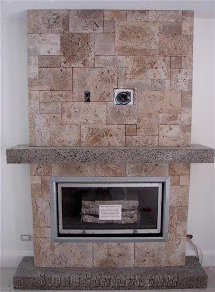 Eldorado Stone Artificial Stone Veneer Fireplace Surround From