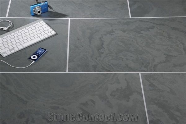 Lonsdale Grey Slate Honed Natural Calibrated Wall and Floor Tile