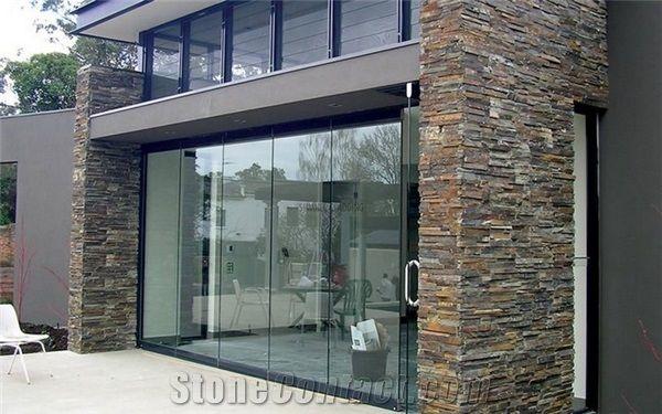 Ledgestone Series Poolburn Schist Wingwalls Residential