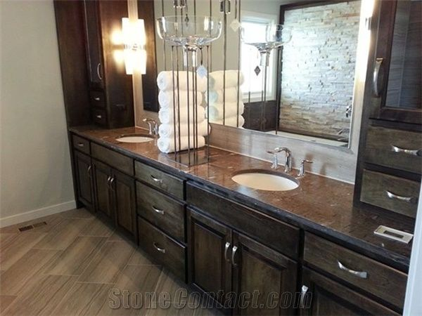 Cygnus Granite Bevel Edge Bathroom Vanity Top From United