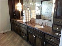 Cygnus Granite Bevel Edge Bathroom Vanity Top
