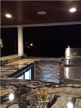 Silver Supreme Granite Eased Edge Outdoor Kitchen-Bar Top