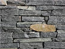 Black Opal Schist Rock Face Walling