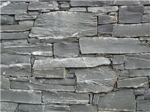 Black Pearl Schist Dry Stacked Wall Stone