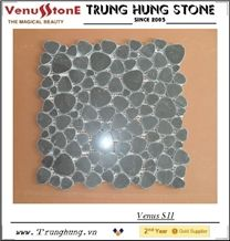 Blue Marble Stone Heart Shape Marble Mosaic Tiles