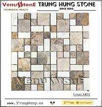 Vietnam Light Grey White Panther Marble Mosaic