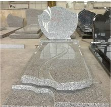 China Polished G640 Granite Tombstones and Monuments & Gravestone and Headstone,China Grey Granite