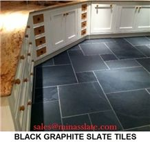 Black (Mustang Slate) Slate Tiles