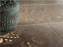 Noce Travertine Tumbled, Unfilled Tiles