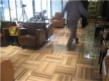 Marmara Equator Striped White Marble Tiles & Slabs, Flooring Tiles