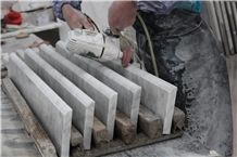 Bianco Carrara Marble Polished Flooring Staricase for Interior Stone Stepping,Stair Risers