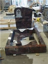 China Multicolor Granite Tombstone & Monument,European Style Cross Tombstone,Monument to Poland